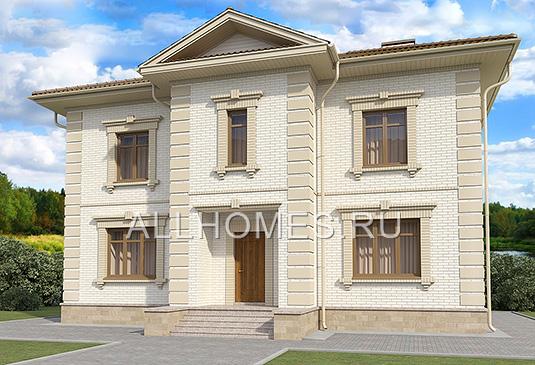 Проект: Проект  кирпичного дома K-196-1K