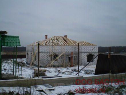 фото строительства дома в больших горках