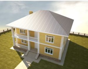 фото газобетонного дома по индивидуальному проекту