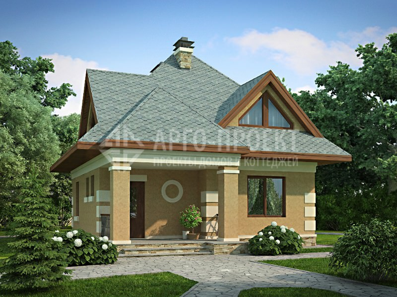 Проект: Проект 3-13 экономичный дом с шатровой кровлей
