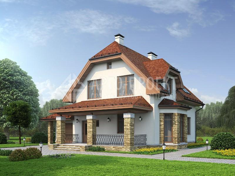Проект: 3-20b Проект экономичного загородного дома с гаражом