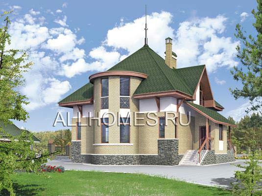 Проект: K-165-1P Проект дома из пеноблоков