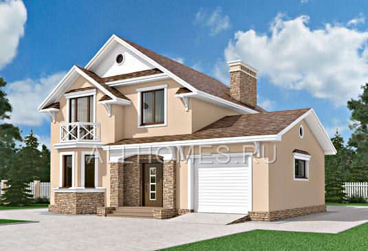 Проект: K-185-1K Проект кирпичного дома