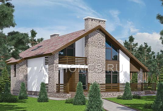 Проект: L-255-1P Проект загородного дома в альпийском стиле