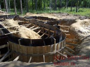 Фото строительства фундамента
