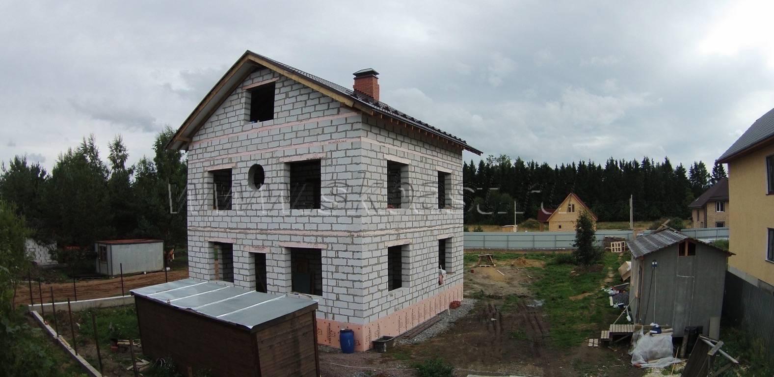 Строительство загородного дома из газобетона в Лебяжьем
