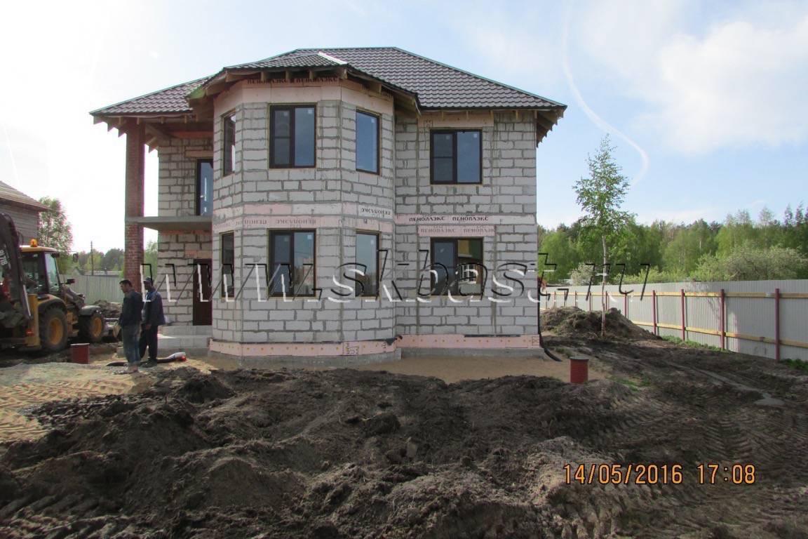 Закончено строительство коробки дома из газобетон в Никольском